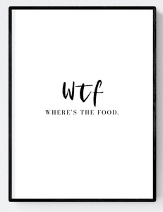WTF Artwork Poster Print A3/A4 Download - Miss Beaut