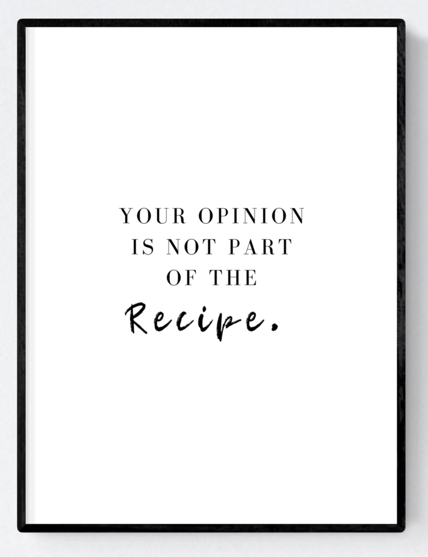 Your Opinion Artwork Poster Print A3/A4 Download - Miss Beaut