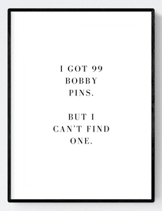 Bobby Pins Artwork Poster Print A3/A4/Download - Miss Beaut