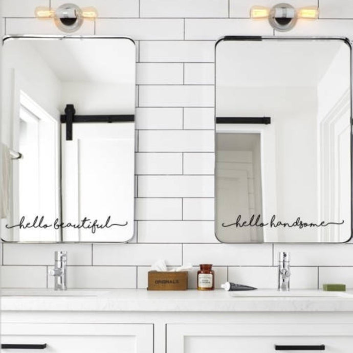Inspirational Mirror Decal , Motivational Wall Sticker On Mirror