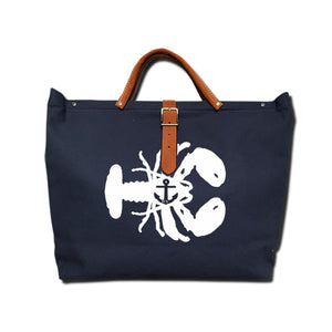 IVY LOBSTER CANVAS TOTE NAVY/WHITE