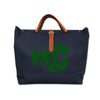IVY LOBSTER CANVAS TOTE NAVY/GREEN