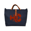 IVY LOBSTER CANVAS TOTE NAVY/RED