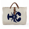 IVY LOBSTER CANVAS TOTE NATURAL/NAVY