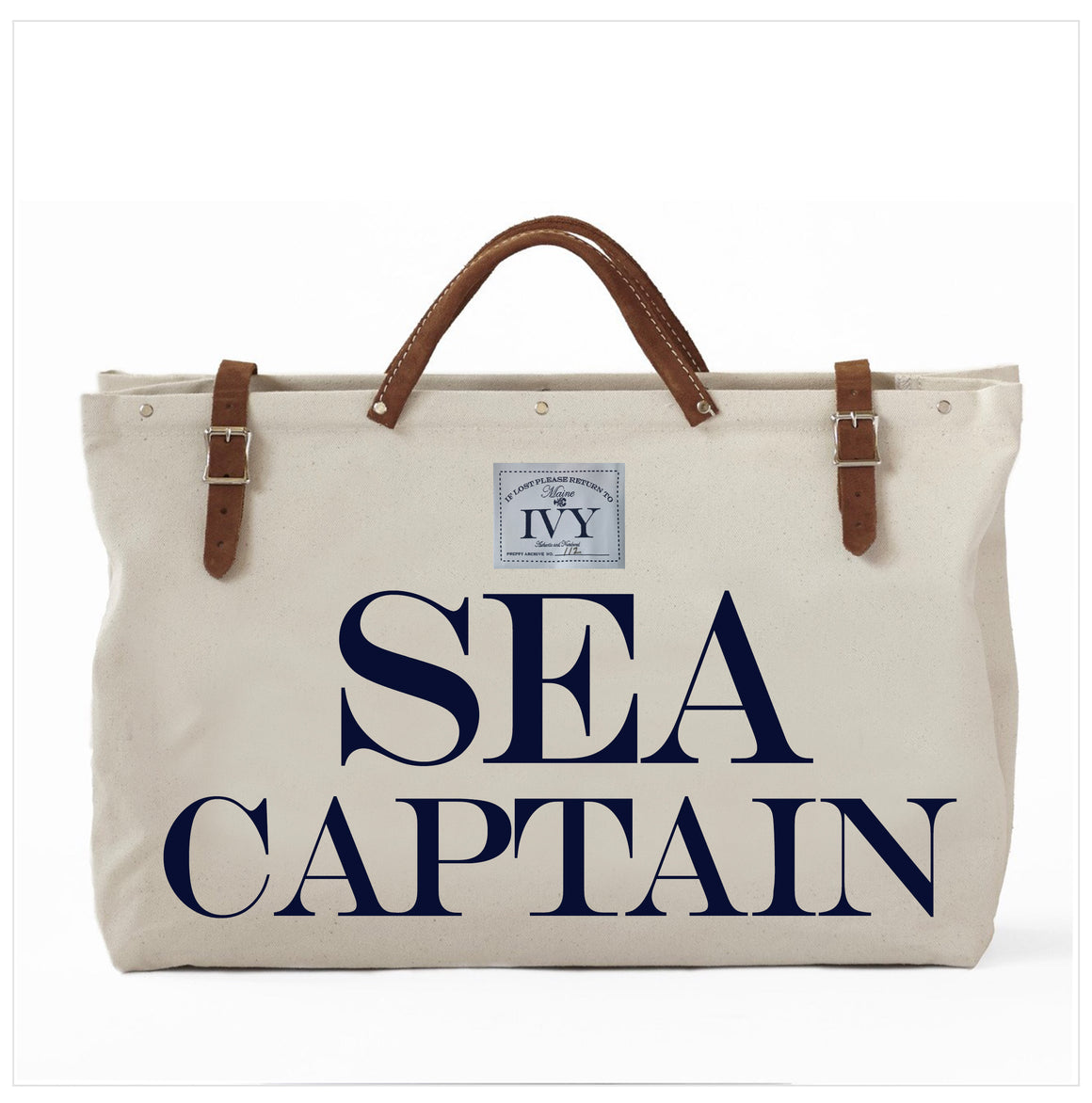 SEA CAPTAIN CANVAS TOTE