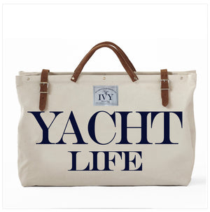 YACHT LIFE CANVAS TOTE