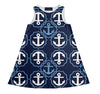 "The ""ANCHOR"" Yacht Dress in Blue"