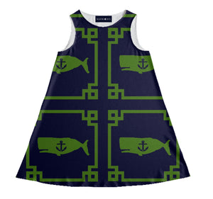 "The ""LOUISBURG"" YACHT Dress in green"