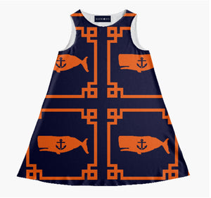 "The ""LOUISBURG"" YACHT Dress in orange"