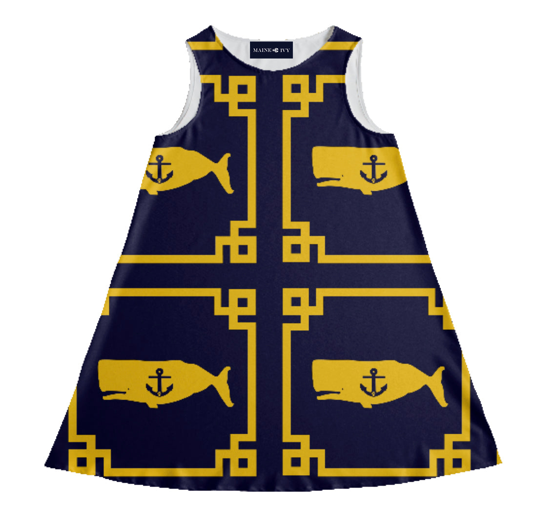 "The ""LOUISBURG"" Yacht Dress in yellow"
