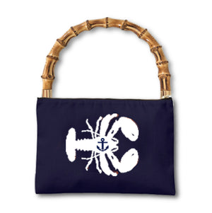 IVY Lobster Clutch Navy/White