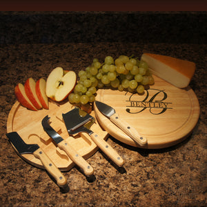 Personalized Cheese Board Engraved with Print or Script Design Option with Last Name Requested - Design's the Limit