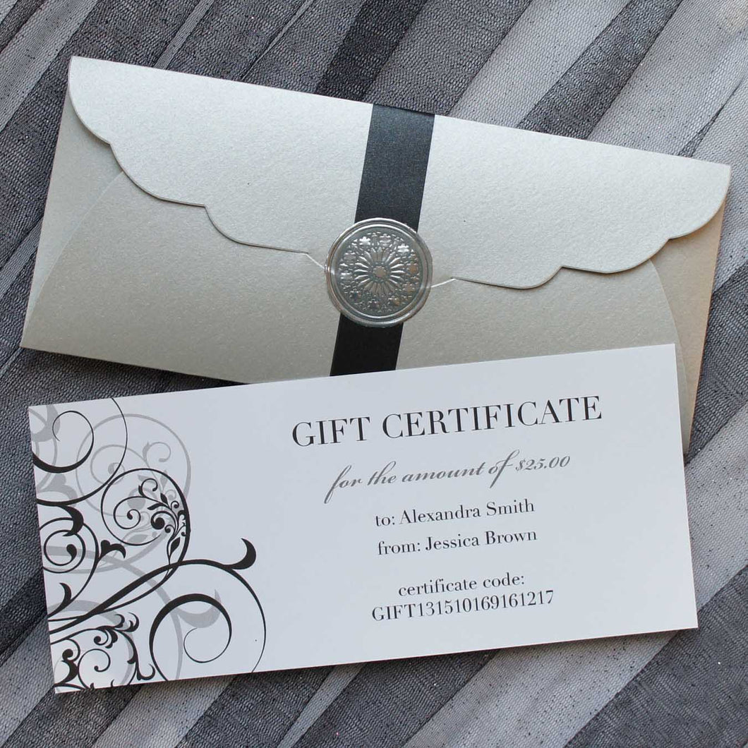 Gift Certificate - Digital - Design's the Limit