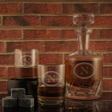 Connoisseur Distiller's Decanter and Stopper with Deep-Sand Carved Personalization with Choice of Design & Font from Our Selection (Each) - Design's the Limit