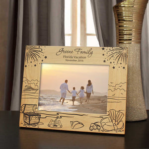 Fantasy Vacation Personalized Inspired Vacation Picture Frame with Font Selection (Select Size and Frame Orientation) - Design's the Limit