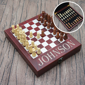 Personalized Chess Set including Engraved Case with Monogram Design Options (Each) - Design's the Limit