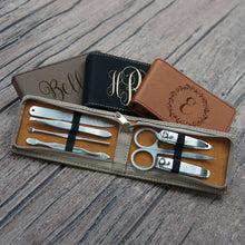 Personalized Manicure Kit Engraved with Choice of Monogram Design & Font from Our Selection (Each - Seven Piece Set) - Design's the Limit