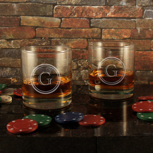 Old Fashioned Personalized Lowball Tumbler with Monogram Design Options & Font Selection (Each) - Design's the Limit