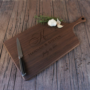 Personalized Cutting Board with Couples Monogram Design Options and Font Selection (Each) - Design's the Limit