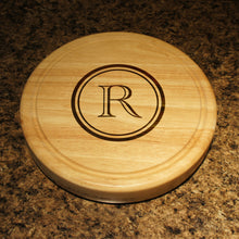 "Personalized Cheese Board and Tool Set with Monogram Options & Engraved Font Selection (Each - 10"" Diameter) Wedding Gift - Design's the Limit"
