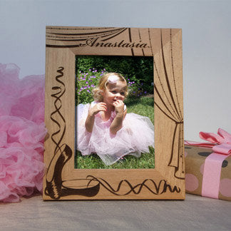 Designs 'Ballerina' Personalized Picture Frame with Font Selection (Select Size and Frame Orientation) - Design's the Limit