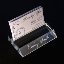 Design Personalized Glass Business Card Holder with Choice of Any Font From Our Selection (Choice of Jade or Clear Glass) - Design's the Limit