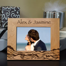 A Walk on the Beach Inspired Personalized Picture Frame with Font Selection (Select Size and Frame Orientation) - Design's the Limit