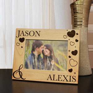 Love is in the Air Inspired Personalized Young Love Custom Picture Frame with Font Selection (Select Size and Frame Orientation) - Design's the Limit