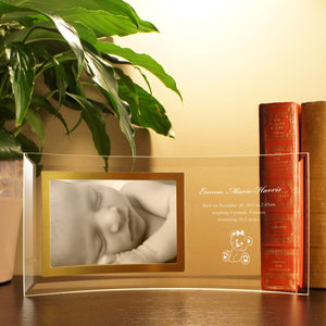 Personalized Curved Glass Picture Frame with Personalization Options & Font Selection (Each) - Design's the Limit