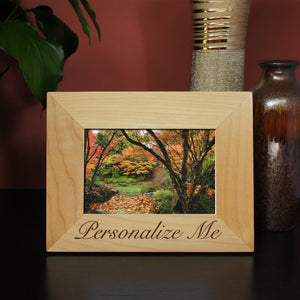 Personalized Picture Frame by Design's the Limit includes Text in Any Font from Our Selection (Select Frame Size and Orientation) - Design's the Limit