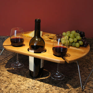 "Design's ""A Night to Remember"" Personalized Wine Serving Table with Couple's Monogram Designs and Font Selection (Each - 18.9 x 14.3 x 6"") - Design's the Limit"