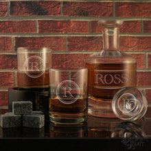 Gentleman Distiller's Decanter and Stopper with Deep Sand Carved Personalization with Choice of Design & Font from Our Selection (Each) - Design's the Limit