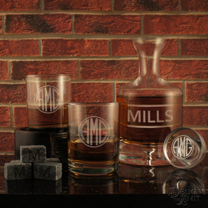 Holdout Distiller's Decanter and Stopper with Deep-Sand Carved Personalization with Choice of Design & Font from Our Selection (Each) - Design's the Limit