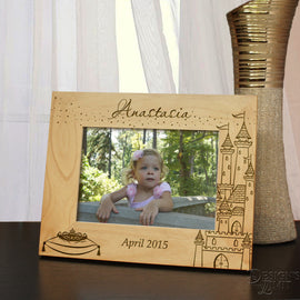 Designs 'Fairy Tale Princess' Personalized Picture Frame for Children with Font Selection (Select Size and Frame Orientation) - Design's the Limit