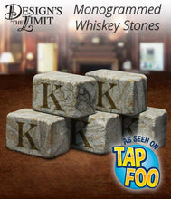 By the Dozen - Engraved Whiskey Ice Stones including Gift Pouch - Personalized with Choice From Font Selection - Design's the Limit