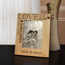 All We Need is LOVE Inspired Personalized Picture Frame with Font Selection  (Select Size and Frame Orientation) - Design's the Limit