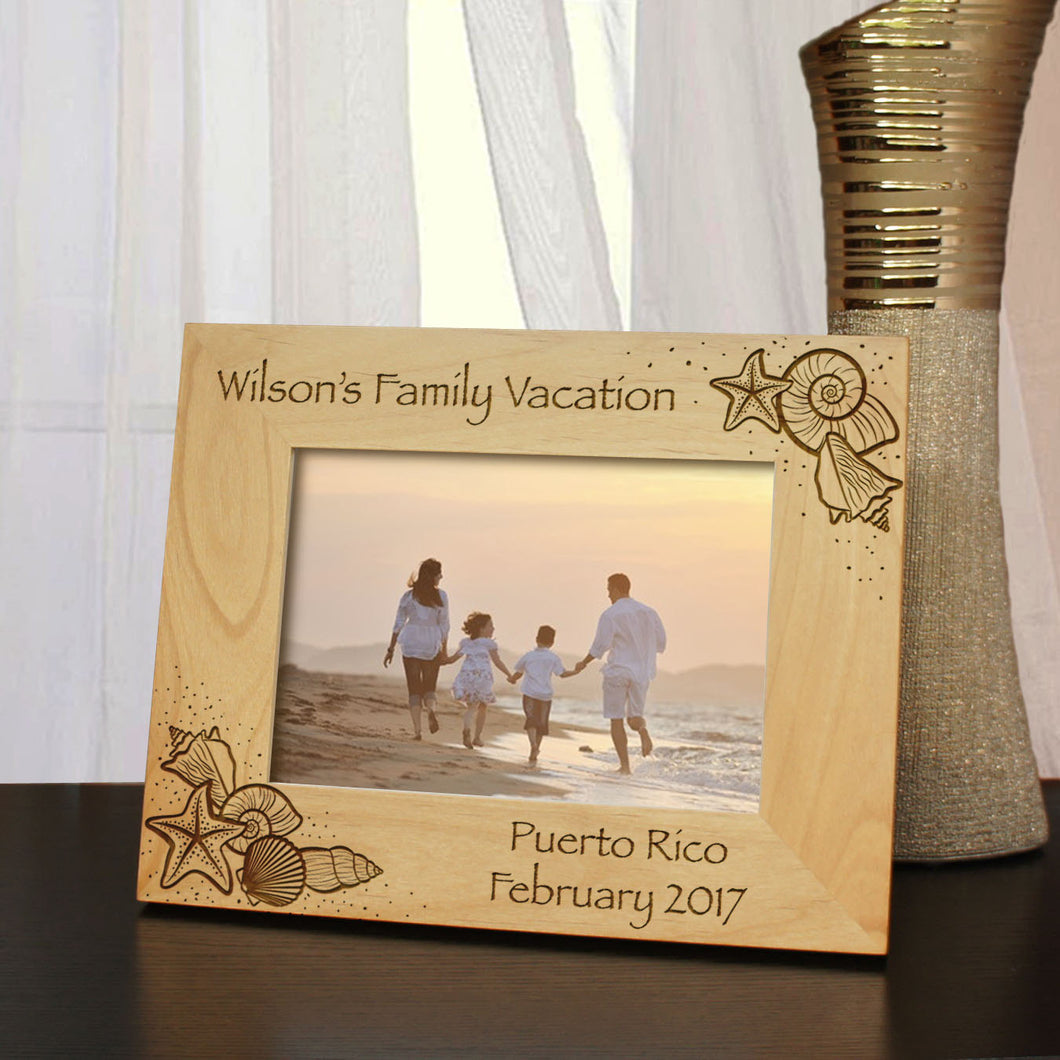 Paradise Found Inspired Personalized Honeymoon & Vacation Picture Frame with Font Selection (Select Size and Frame Orientation) - Design's the Limit