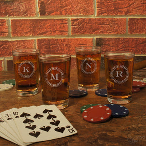 Personalized Shot Glasses individually Monogrammed with Design Options and Choice of Font from Our Selection (Each) - Design's the Limit