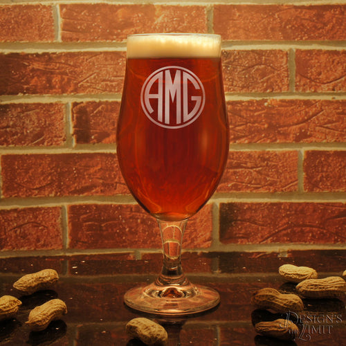 Personalized Toasting Goblets with Choice of Monogram Design Option & Font Combination (Each)