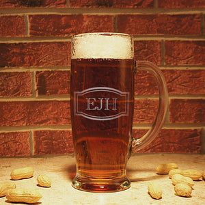 Personalized Beer Mug with Engraved Monogram Design Options & Font Selection OPTIONAL Monogrammed Magnetic Bottle Opener (Each) - Design's the Limit