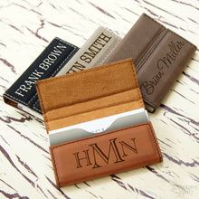 Personalized Business Card Holder with Magnetic Catch Engraved with Choice of Font from Our Selection (Each) - Design's the Limit