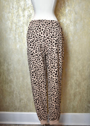 All I Know Animal Print Jogger Sweatpants