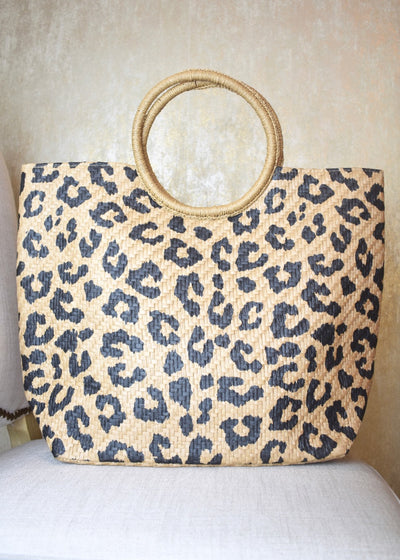 Day Dreaming Leopard Beach Bag