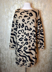 Somebody Like That Animal Print Sweater Dress