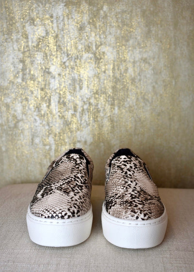 So Much In Love Snakeskin Platform Sneaker