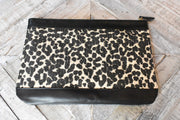 Ray of Light Leopard Straw Clutch