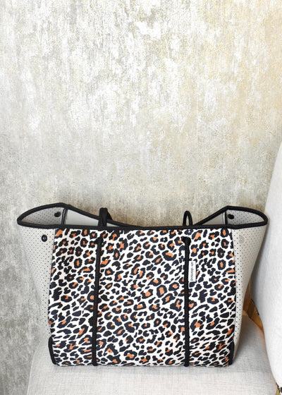 To Talk the Talk Leopard Neoprene Tote