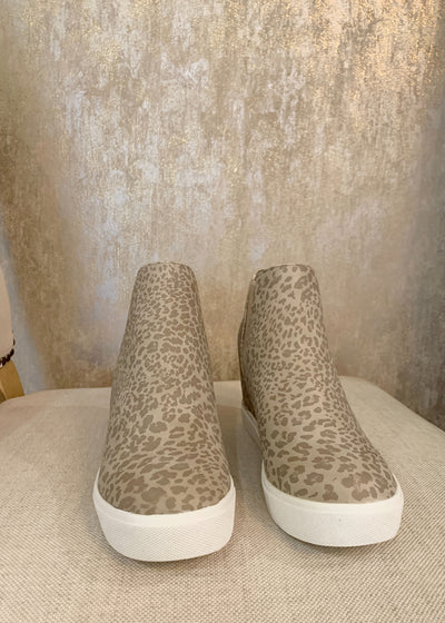 Let Me Show You Leopard Print Wedge Sneaker