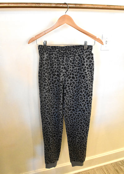 Going To Gray Leopard Print Jogger Sweatpants