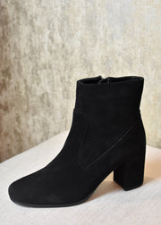 High Hopes Suede Heeled Booties